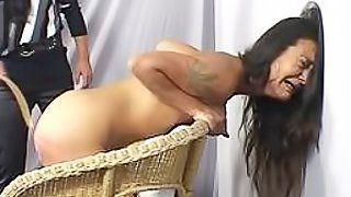 Tube aloha spanking Three women